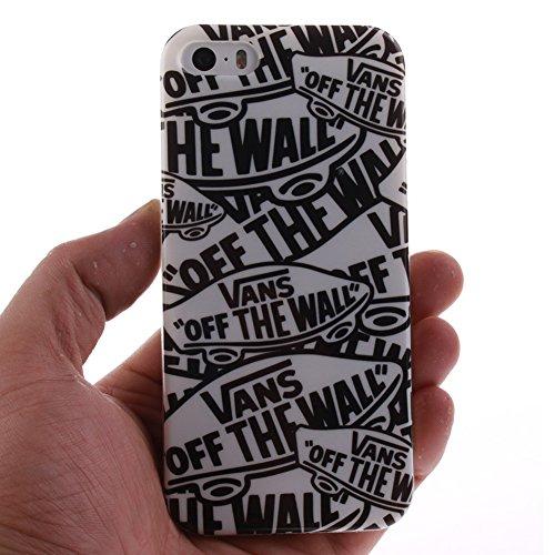 Custodia per iPhone 6 / 6S, Pridot TPU Silicone Graffiti Stile Case Cover Protettiva con Shock Assorbimento Bumper - La Scienza Frankenstein Il Muro