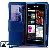 Cadorabo ! Book Style wallet case (PREMIUM) for Nokia Lumia 800 in NAVY-BLUE