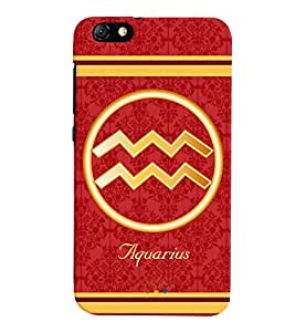 Fuson 3D Printed Sunsign Aquarius Designer back case cover for Huawei Honor 4X - D4391