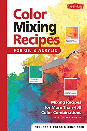 Color Mixing Recipes for Oil & Acrylic: Mixing Recipes for More Than 450 Color Combinations: Mixing Recipes for More Than 450 Colour Combinations por William F. Powell