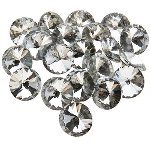 DIY 20x 25mm cristal Diamante redondo botones Tufting sofá tapicería cabecero de cama