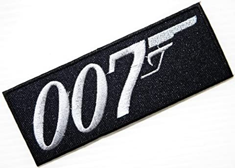 James Bond 007Movie Logo Jacket T-shirt Patch Sew Iron on gesticktes Badge Schild Kostüm (James Bond 007 Kostüme)