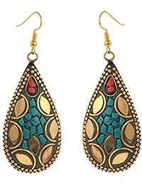 Zephyrr Jewellery Tibetan Dangle & Drop Hook Earrings