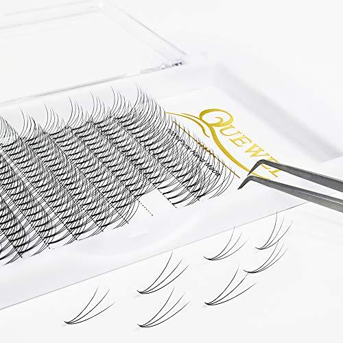 Quewel - Extensión pestañas 3D base corta ventiladores
