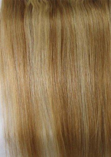 20,3 cm couleur : brun/blond (# 12/613) cheveux humains véritables cheveux Fashion avant Neat Bang franges One cheveux