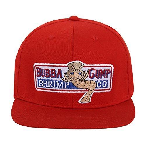 36850385 Adjustable Bubba Gump Baseball Cap Shrimp Co. Embroidered Hat (Red) - -