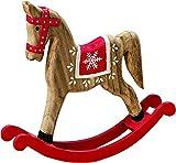 Bo Schaukelpferd Nostalgie Weihnachten Deko Pferd Ross Artikel Figur Skulptur Tier