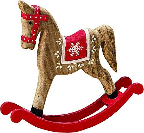Bo Schaukelpferd Nostalgie Weihnachten Deko Pferd Ross Artikel Figur Skulptur Tier -