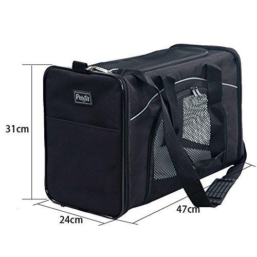 Pet Taschen, weiche Reifen, schwarze Haustier Tasche, Hund Box Transport Box Falten Oxford Tuch