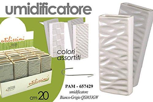 Humidificador Ambiente cerámica blanco gris relieve 20cm