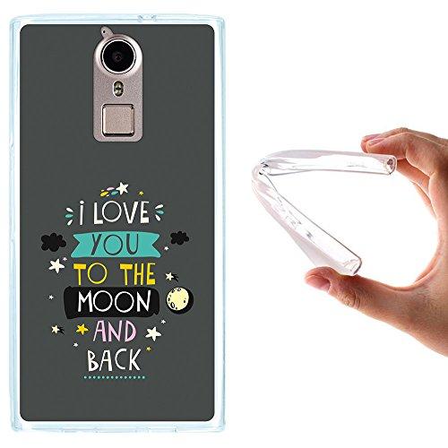 WoowCase Doogee F5 Hülle, Handyhülle Silikon für [ Doogee F5 ] Satz - I Love You to The Moon and Back 2 Handytasche Handy Cover Case Schutzhülle Flexible TPU - Transparent