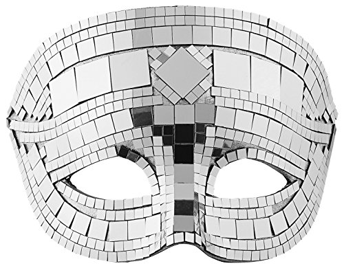 Widmann 1622-Maske Discokugel Unisex, Grau, Einheitsgröße