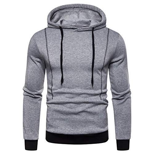 Amphia - Herren Sweatjacke Hoodie Kapuzenjacke Sweatshirt Kapuzenpullover,Männer Herbst Winter Langarm Kapuzen Sweatshirt gedruckt Outwear Tops Bluse