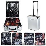 Rapid Teck® Alu Werkzeugkoffer 551 tlg Werkzeugset Werkzeugkasten Werkzeugbox Werkzeug Set