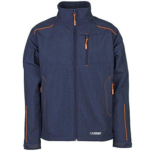 Planam Neon Softshell Jacke marine/orange