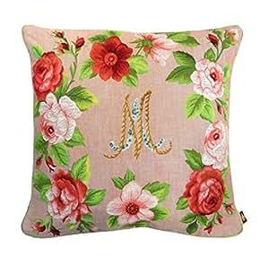 Housse de coussin tapisserie Marie Antoinette Fleurs Vieux Rose env. 50x 50cm, sans rembourrage