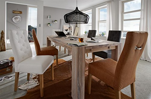 Sit Möbel Sit&Chairs Stuhl, 2er-Set Bezug Pellini-Leder, Beine Eiche L = 49 x B = 64 x H = 100 cm Bezug Cognac, Beine Natur (Leder Eiche Sofa)