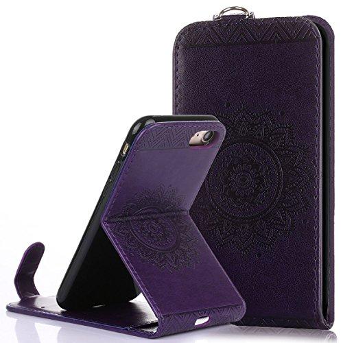 Custodia iPhone 7/8,Ukayfe Flip Cover Case Custodia per iPhone 7/8 in pelle PU,iPhone 7/8 Lussuosa Astuccio Custodia Cover [PU Leather] [Shock-Absorption] Protettiva Portafoglio Cover Custodia Giuntur Porpora