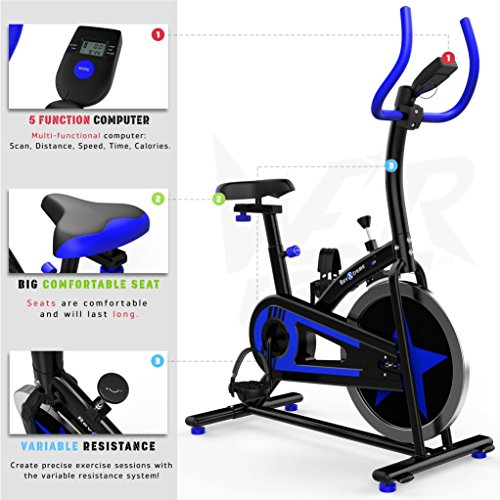 51Ag1Cj16ML. SS500  - We R Sports Exercise Bike/ Aerobic Indoor Training Cycle Fitness Cardio Workout Home Cycling Machine - 10KG Flywheel