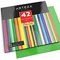 "Arteza Self Adhesive Vinyl 12X12"" - Assorted Colors (42 Sheets)"