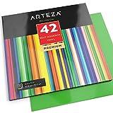 Arteza Selbstklebende Vinyl-Folie — Klebefolie in 42 Verschiedenen Farben— Vinyl-Blätter zum Aufkleben auf Glatten Oberflächen— 12 x 12 Zoll (30.4 cm x 30.4cm)