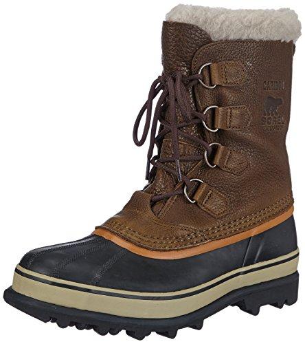 Ginger Brown Schuhe (Sorel Herren Caribou WL Schneestiefel, Grün (Olive Brown, Dark Ginger 334), 46 EU)