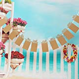 #4: Partysanthe Newborn Baby 12 Months Bunting Garland Photo Banner For First Birthday Decorations 12 Poster Frames 1-12