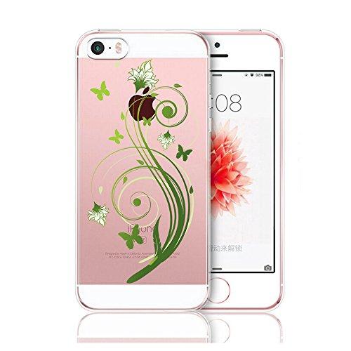 Vanki® Coque iPhone 5/5S/SE, TPU Souple Etui de Protection Silicone Case Soft Gel Cover Anti Rayure Anti Choc pour Iphone5/5S/SE-Fashion girl 6