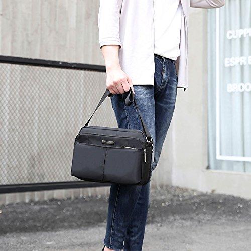 Outreo Umhängetasche Vintage Schultertasche Herren Taschen Retro Messenger Bag Reisen Kuriertasche Sport Herrentaschen für Schule Schwarz
