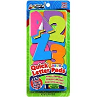 Artskills vari Quick Letter Number Pads riposizionabile/347/Pkg-Neon