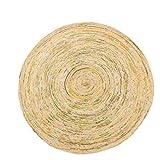 Einfache handgewebte Runde Jute Teppich Wohnzimmer Schlafzimmer Couchtisch Teppich Hause Bodenmatte (Farbe : B, größe : 150cm)