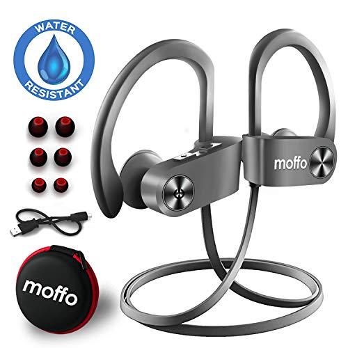 Bluetooth Ohrstöpsel Moffo Bluetooth Kopfhörer, 6-8 Stunden Spielzeit, Bluetooth 4.1, In Ear Kopfhörer mit Mikrofon für iPhone Android Samsung iPad Huawei HTC usw (Hellgrau)
