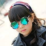 Sunyan Kinderbrillen Sonnenbrillen Jungen und Mädchen baby Sonnenbrille Brille anti UV-schöne Prinzessin Sonnenbrille, Blumig - Grün film