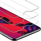 Zloer [Pack de 3] Verre Trempé Huawei P20 Pro Film Protection Ecran - [9H Dureté] [Anti Rayures] [sans Bulles, Facile à Installer] pour Protection Ecran Huawei P20 Pro