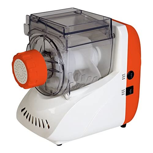 51Ag4NvlfuL. SS500  - TKG Electric Pasta Maker with 5 Attachments, 200 W, White/Orange
