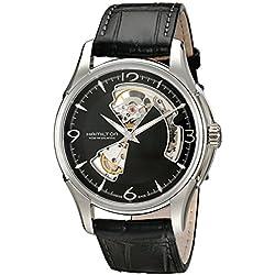 Hamilton HML-H32612555- Reloj de cuarzo para hombre, correa de cuero color marrón
