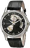 Hamilton H32565735 - Mouvement Cristal de roche - Affichage Chronographe - Montre à bracelet Cuir Bronze et Cadran Argent - Homme