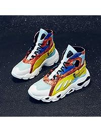 ZYFXZ Zapatos de Seguridad Zapatillas Altas para Mujer Harajuku Tendencia  Hip-Hop Zapatos de Baile Callejero Zapatos Casuales (Amarillo 814ec8e88bb