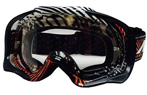 MT Lunettes Motocross MX Pro III anti-buée & anti-rayures - Orange