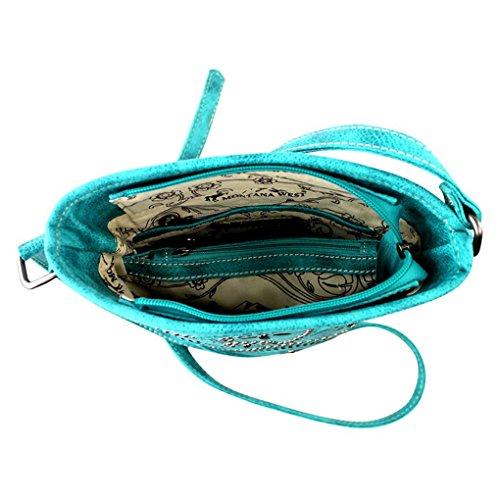Paisley Kollektion Handtasche, Satchel, Messenger Tasche und Geldboerse 8287-Black