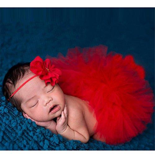 Hengsong Neugeborenes Baby Rock Tutu Kleidung Trikot Kostüm Foto Prop Outfits Bekleidung Set (Baby Tutus Halloween)