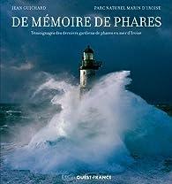 De memoire de phares par Jean Guichard