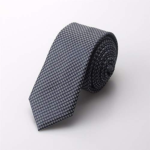 pyty123 Men's Casual Kleine Krawatte Koreanische Version des Dot Business Schmal Krawatte Student Casual Knot Hochzeit Boxed 5,5 cm, Grau -