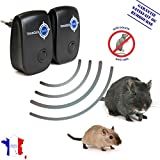 Ultraschall Schädlingsbekämpfer I Hilft gegen Mäuse, Ratten, Nager I Mäuse vertreiben & Rattenbekämpfung im Haus I Besser als jede Falle oder Gift – schwarz, von TRANQUILISAFE® (2 Stücke)