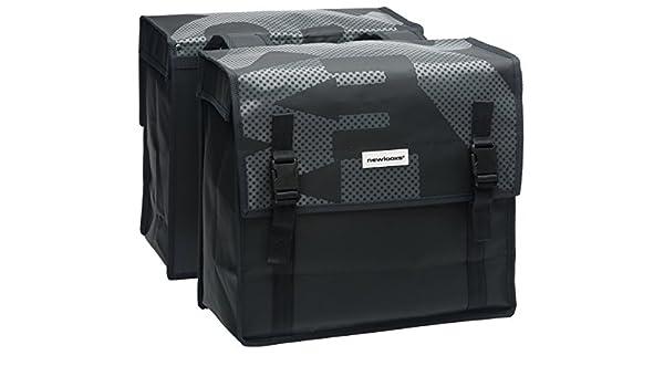 Unbekannt New Looxs Sacoches Noires pour Porte-Bagages Uni Bisonyl Basic, 38 x 36 x 17 cm