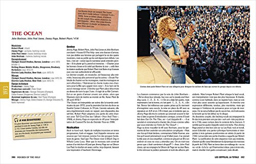 """Page du livre """"Led Zeppelin la totale"""" concernant la chanson """"The Ocean"""""""