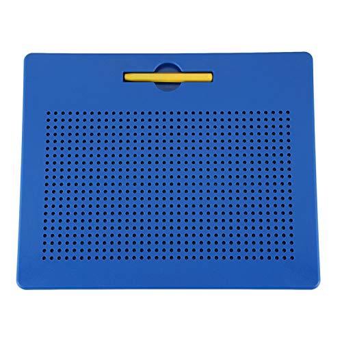 REFURBISHHOUSE Magnetische Zaubermaltafel Zeichentafel mit Kugeln und Magnetischem Stift für M?dchen und Jungen - Blau, L (Magnetische Kugeln Blau)