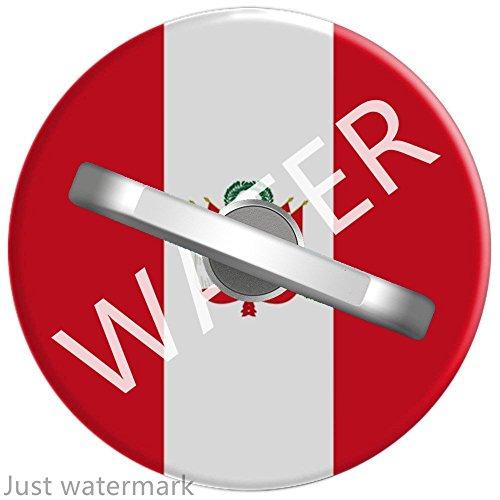 Anillo soporte teléfono/Soporte para Teléfono de anillo/metal dedo agarre soporte Bandera de país de Perú Orgulloso patriótico, soporte de coche para 360 Grado rotación teléfono anillo Grip para Smartphone 1U803