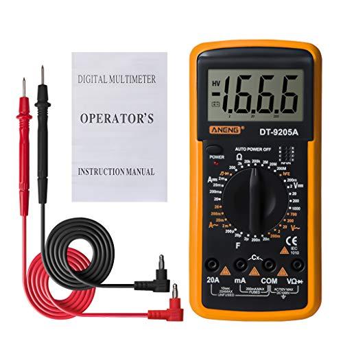 Chou Digital-Multimeter - DT9205A HFE AC-DC-Triode Diode Resistance Tester Leistungsverstärker