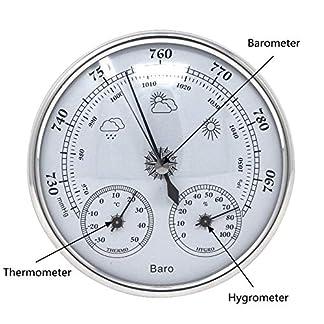 GAOYOO Termómetro 3 En 1 Higrómetro Barómetro Temperatura Humedad Probador Monitor De Presión Atmosférica Estación Meteorológica Sala Analógica